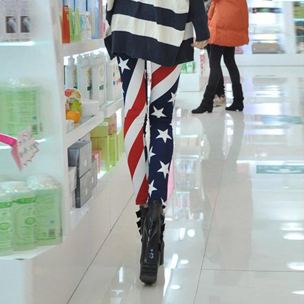 daf85605f6a7f AGATHA SEASON HIT, LADIES STRETCH LEGGINGS, USA FLAG DESIGN, STARS ...
