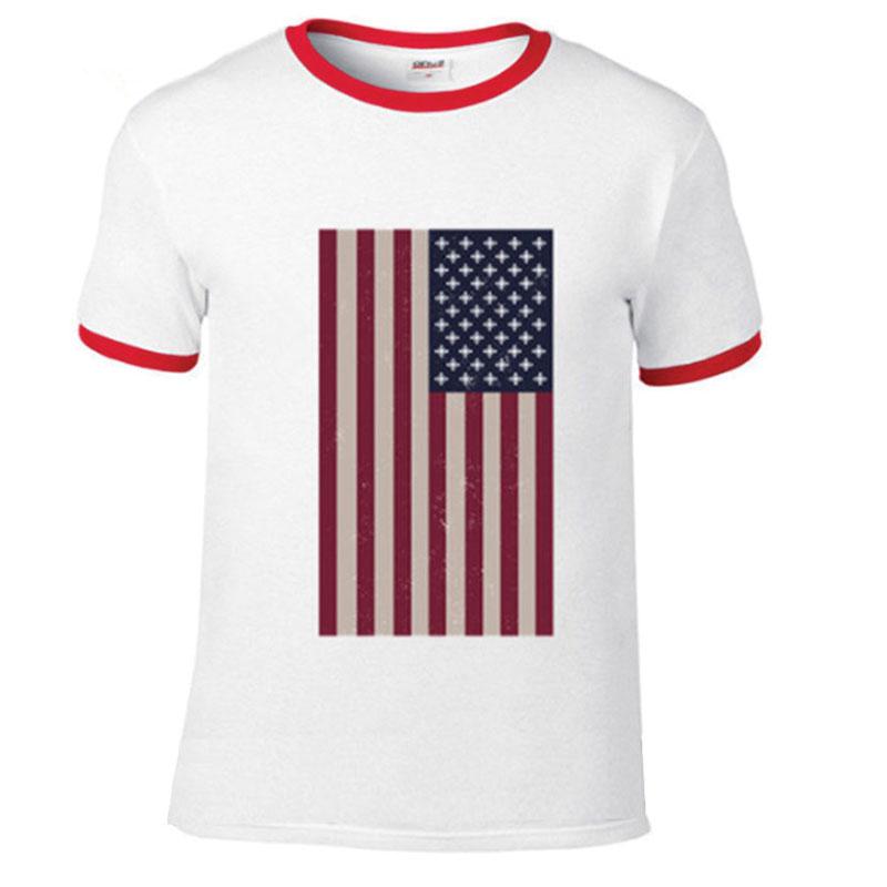United States American Flag T-Shirt, Vintage, Short Sleeve