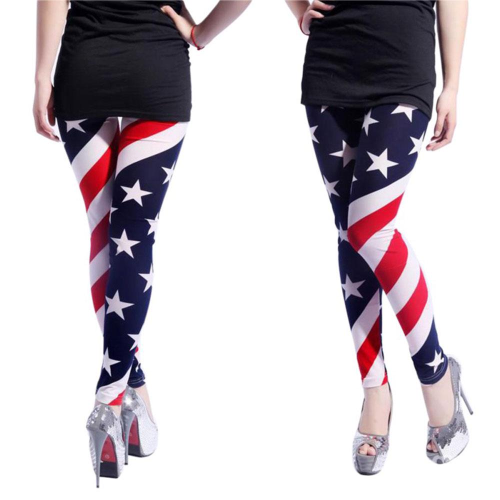 c7201df2ca AGATHA SEASON HIT, LADIES STRETCH LEGGINGS, USA FLAG DESIGN, STARS STRIPES