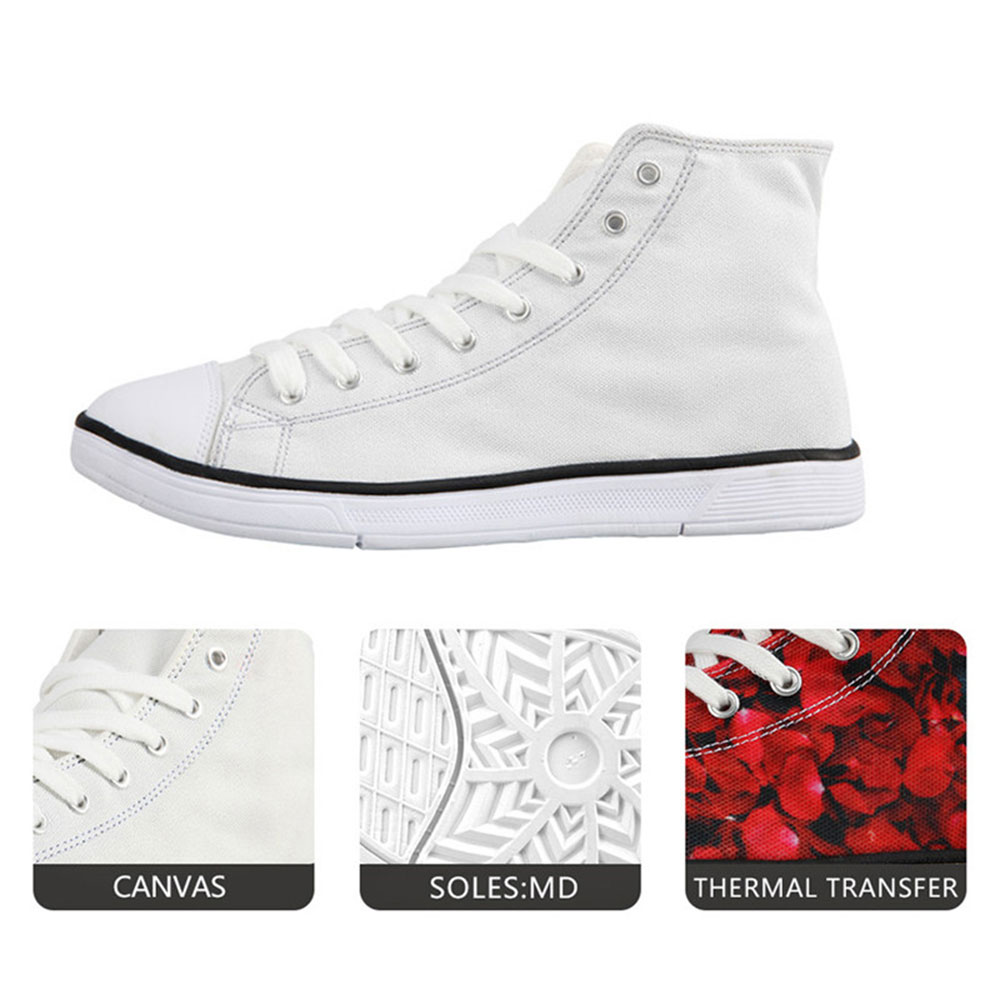 318a1cc2eabe 3D Flags Prints High Top Leisure Canvas Shoes for Women – Stars and ...