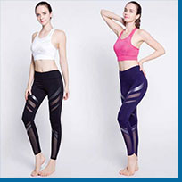 Shape and Fitness Leggings with Machine Gun Print, Feel Safe