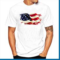 American Flag Neck Tie, Stars And Stripes Tie, 8 cm